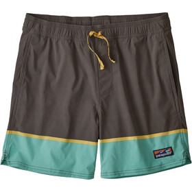"Patagonia Stretch Wavefarer Volley Shorts 16"" Men bottom leg stripe/forge grey"